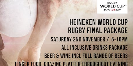 World Cup Rugby Final - 5 Hour Food and Drinks Package tickets