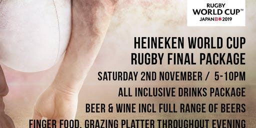 World Cup Rugby Final - 5 Hour Food and Drinks Package