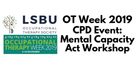 OT Week: Mental Capacity Act Workshop tickets