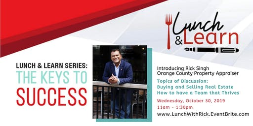 Keys to Success Lunch & Learn with Rick Singh, OCP