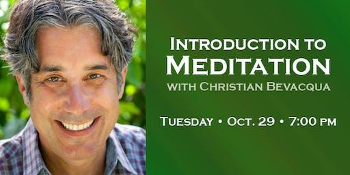 Intro to Meditation with Christian Bevacqua