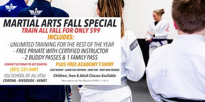 Martial Arts Fall Special in Riverside