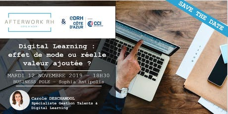 AfterWork RH Côte d'Azur - 12 novembre 2019 - Digital Learning billets