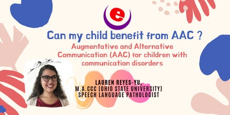 Can my child benefit from AAC ? tickets