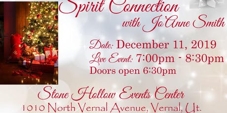 "LIVE ""SPIRIT CONNECTION"" EVENT WITH SALT LAKE MEDIUM, JO'ANNE SMITH tickets"