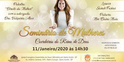 Seminário de Mulheres com cantora Sarah Farias