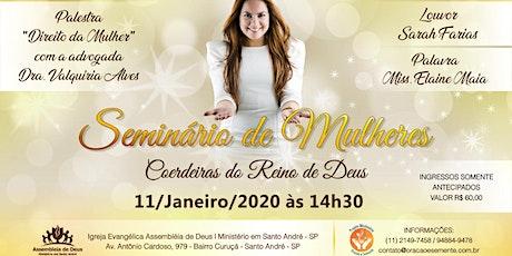 Seminário de Mulheres com cantora Sarah Farias ingressos