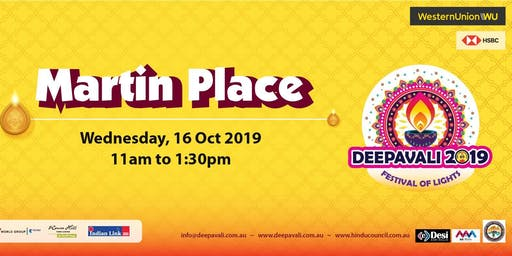 Deepavali Festival of Lights 2019 at Martin Place