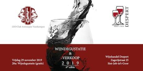 Wijndegustatie & -verkoop 2019   6e editie tickets