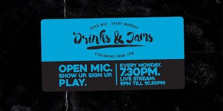 Drinks & Jams Monday 14th October ft: Alex Gardner tickets