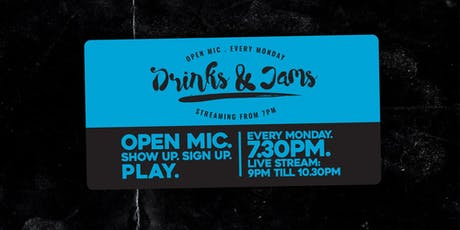 Drinks & Jams Monday 21st October ft: Jasmine Burns tickets