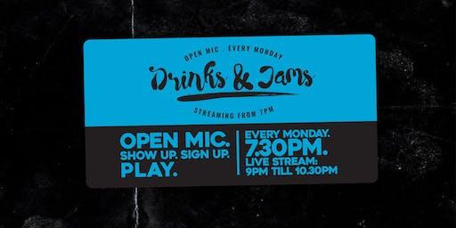 Drinks & Jams Monday 21st October ft: Jasmine Burns