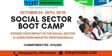 SOCIAL SECTOR BOOT CAMP 3 tickets