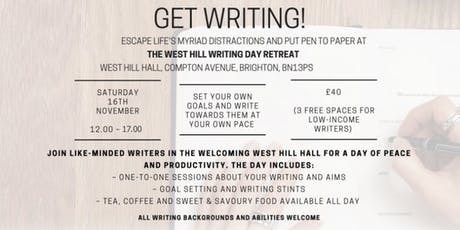 Get Writing! The West Hill Writing Day Retreat tickets