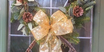 Christmas Wreath Making with FLowers by Philippa