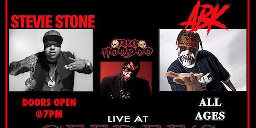 Stevie Stone, ABK, & Big Hoodoo Live 11/22 in Tucson@Ceedee's All Ages
