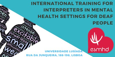International Training for Interpreters in MH Settings for Deaf People bilhetes