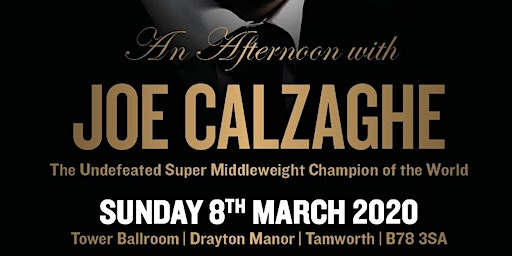 An Afternoon with Joe Calzaghe