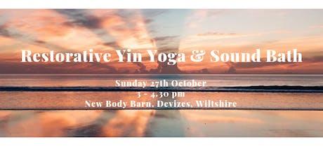 Restorative Yin Yoga and Sound bath tickets
