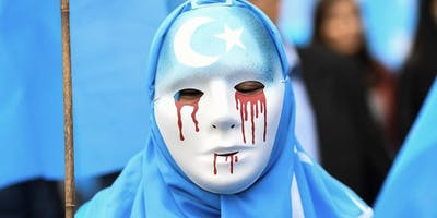 Protest for China Uyghur Muslims