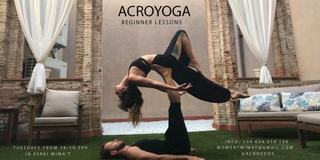 Acroyoga beginner lessons / Clases de iniciación al Acroyoga entradas