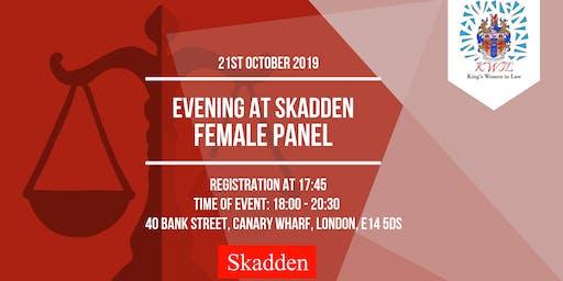 Evening with Skadden: Female Panel