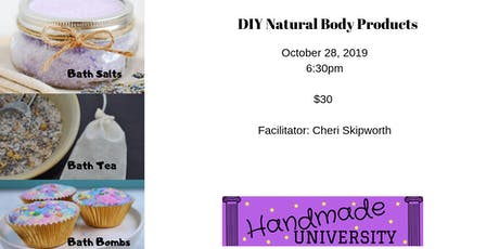 DIY Natural Body Products - Bath time (Bath Salts, Tea and Bombs) tickets