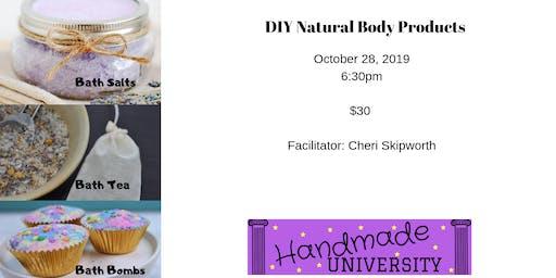 DIY Natural Body Products - Bath time (Bath Salts, Tea and Bombs)
