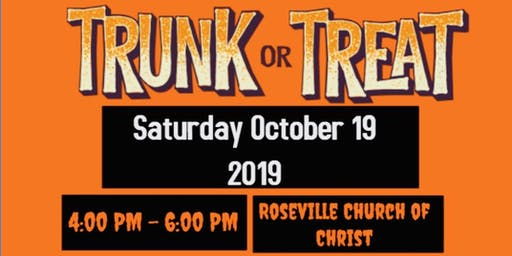 Roseville Church of Christ Trunk or Treat!