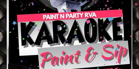 Karaoke Paint n Sip tickets