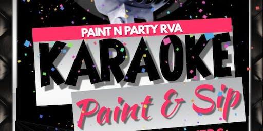 Karaoke Paint n Sip