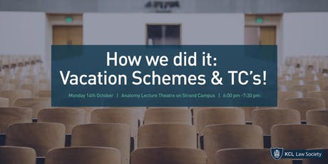 How we did it: Vacation Schemes & TC's! tickets