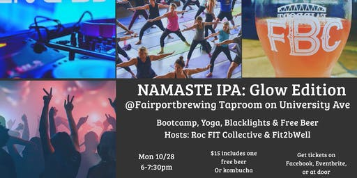 Namaste IPA Glow Edition: Bootcamp Yoga Party & Free Beer