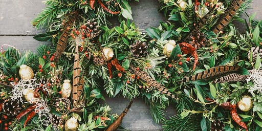 Christmas Wreath Making at Cherfold Flowers in Chiddingfold