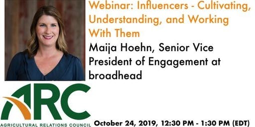 ARC Webinar: Influencers - Cultivating, Understanding, and Working With Them