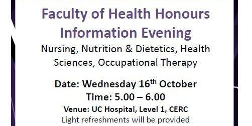 Faculty of Health Honours Information Evening
