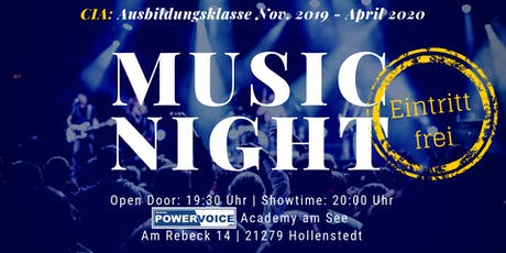 15. MUSIC NIGHT: CIA  Tickets