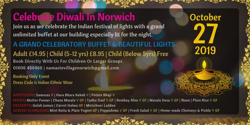 Diwali Celebration With All Day Long Grand Buffet   Norwich   27th October