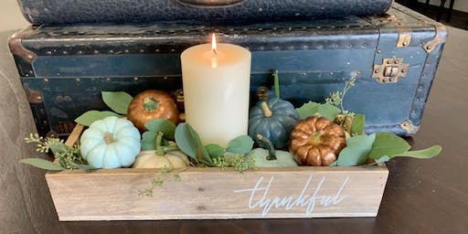 Fall Centerpiece Box Workshop with Green Porch LLC