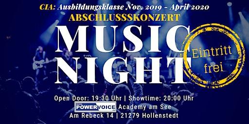 25. MUSIC NIGHT: CIA - ABSCHLUSSKONZERT