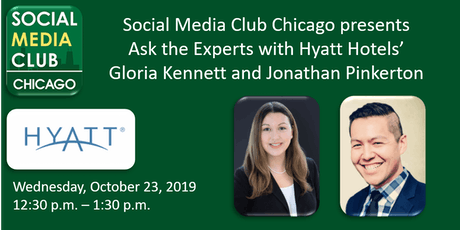 Ask the Experts with Hyatt Hotel's Gloria Kennett and Jonathan Pinkerton tickets