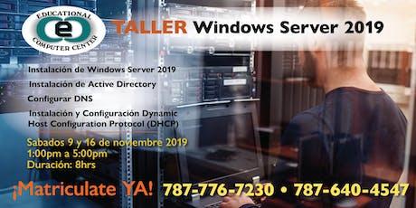 Taller de Windows Server 2019 tickets