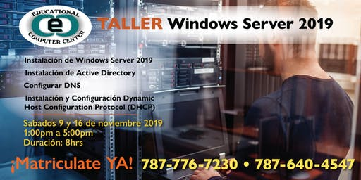 Taller de Windows Server 2019