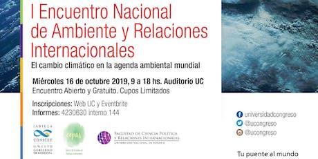 I Encuentro Nacional de Ambiente y Relaciones Internacionales entradas