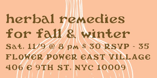 herbal remedies for fall & winter