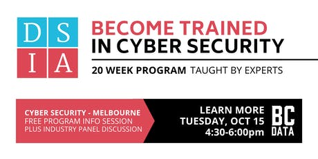 Career Change to Cyber Security in 20-weeks - Free Program Info Session - Melbourne - 4:30pm start tickets