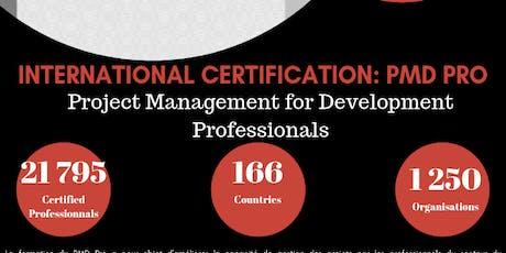 Certification mondiale en Gestion de projet de developpement billets