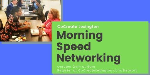 Morning Speed Networking in October