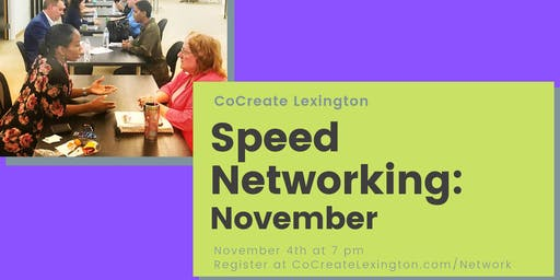 Speed Networking in November