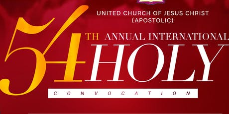 54th  Annual International Holy Convocation tickets